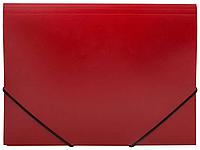 Папка на резинках OfficeSpace, A4 пластиковая, красная