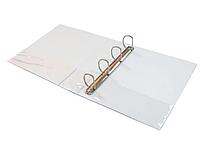 Папка на 4-х кольцах DELI, презентационная, корешок 76 мм, белая
