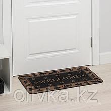 Коврик придверный прямоугольный «Welcome животные», 40×70 см