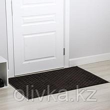 Коврик придверный влаговпитывающий «Галант», 80×120 см, цвет коричневый