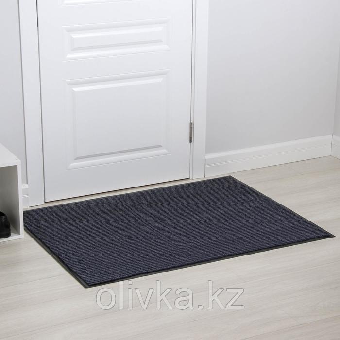 Коврик придверный влаговпитывающий, ребристый, «Стандарт», 90×120 см, цвет серый