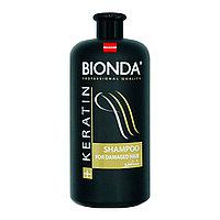 Шампунь 1л для поврежденных волос Bionda Keratin