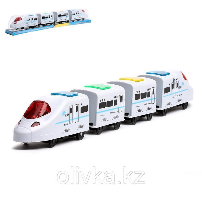 Поезд «Скорость», работает от батареек, световые и звуковые эффекты, МИКС