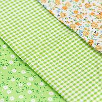 Ткань для пэчворка 3 лоскута «Весенний лужок», 50 × 50 см