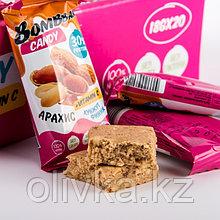 Протеиновая конфета BOMBBAR, арахис/кунжут/финик, 18 г