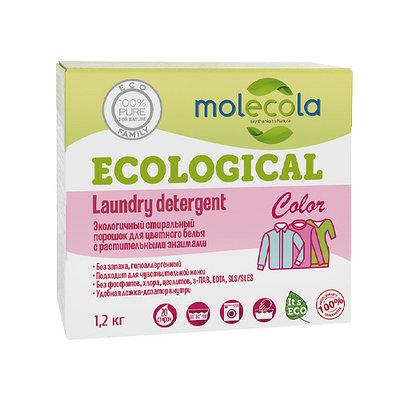 Стиральный порошок для цветного белья с растительными энзимами, экологичный ,1,2кг
