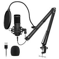 Студийный Конденсаторный Микрофон BM800 USB Edition Полный Комплект! + Стойка, Поп-Фильтр