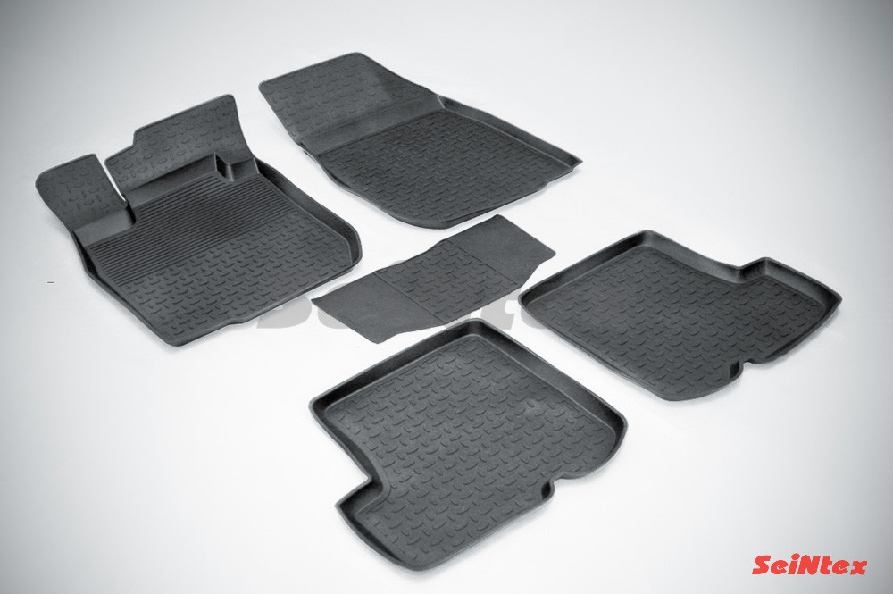 Резиновые коврики с высоким бортом для Renault Sandero 2010-2015