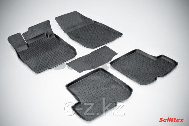 Резиновые коврики с высоким бортом для Renault Sandero 2010-2015, фото 2