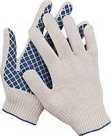 Перчатки трикотажные, 7 класс, х/б, с обливной ладонью DEXX