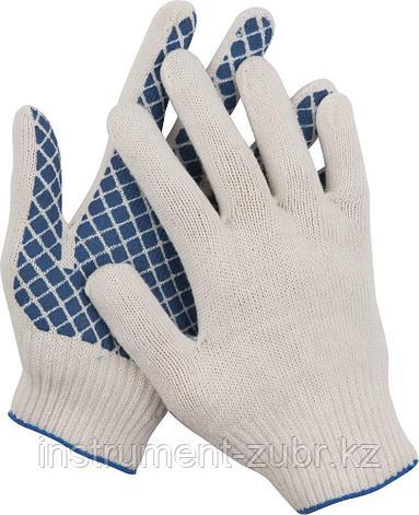 Перчатки трикотажные, 7 класс, х/б, с обливной ладонью DEXX, фото 2