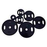 Диск олимпийский Grome WP027 черный обрезиненный (25 кг)