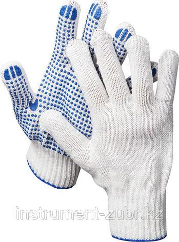 Перчатки трикотажные, 7 класс, х/б, с защитой от скольжения DEXX, фото 2