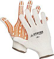 """Перчатки STAYER """"EXPERT"""" трикотажные с защитой от скольжения, 10 класс, х/б, L-XL"""