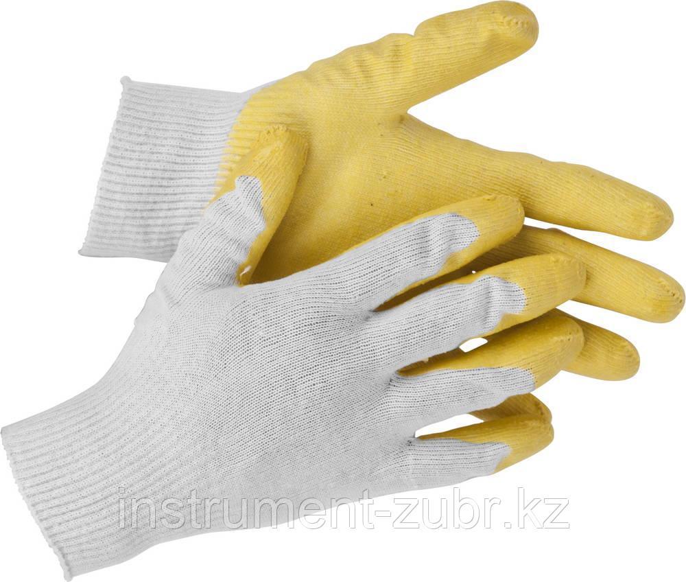 "Перчатки STAYER ""МASTER"" MaxSafe трикотажные, обливная ладонь из латекса, х/б, 13 класс, L-XL, 10 пар"