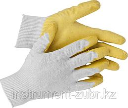 "Перчатки STAYER ""МASTER"" трикотажные, обливная ладонь из латекса, х/б, 13 класс, L-XL"