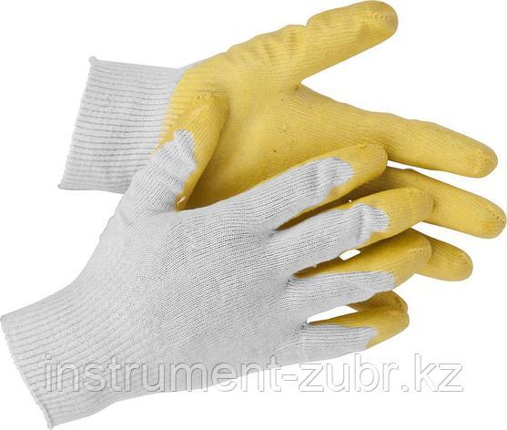 "Перчатки STAYER ""МASTER"" трикотажные, обливная ладонь из латекса, х/б, 13 класс, L-XL, фото 2"