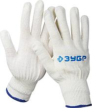 Перчатки ЗУБР трикотажные, 12 класс, х/б, L-XL