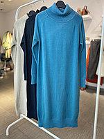 Трикотажное платье бежевый