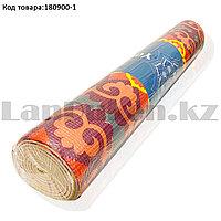 Коврик для йоги и фитнеса (йогамат) 4 мм 61х173 см с восточным узором разноцветный