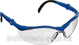 Очки защитные открытого типа ЗУБР Прогресс 9 Прозрачные, регулируемые дужки.