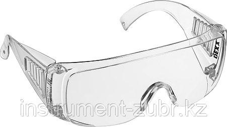 Очки DEXX защитные, поликарбонатная монолинза с боковой вентиляцией, прозрачные, фото 2