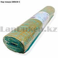 Коврик для йоги и фитнеса (йогамат) 5 мм 61х173 см коричнево-березовый