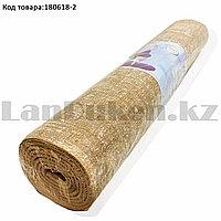 Коврик для йоги и фитнеса (йогамат) 5 мм 61х173 см коричнево-белый