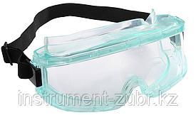 Очки STAYER защитные панорамные закрытого типа с непрямой вентиляцией, поликарбонатные прозрачные линзы