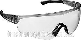 Прозрачные, очки защитные открытого типа STAYER HERCULES, мягкие двухкомпонентные дужки.