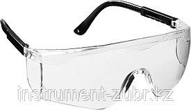 Прозрачные, очки защитные открытого типа STAYER GRAND, регулируемые по длине дужки.