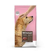 Сухой корм для собак Winner для взрослых собак крупных пород из говядины 10 кг