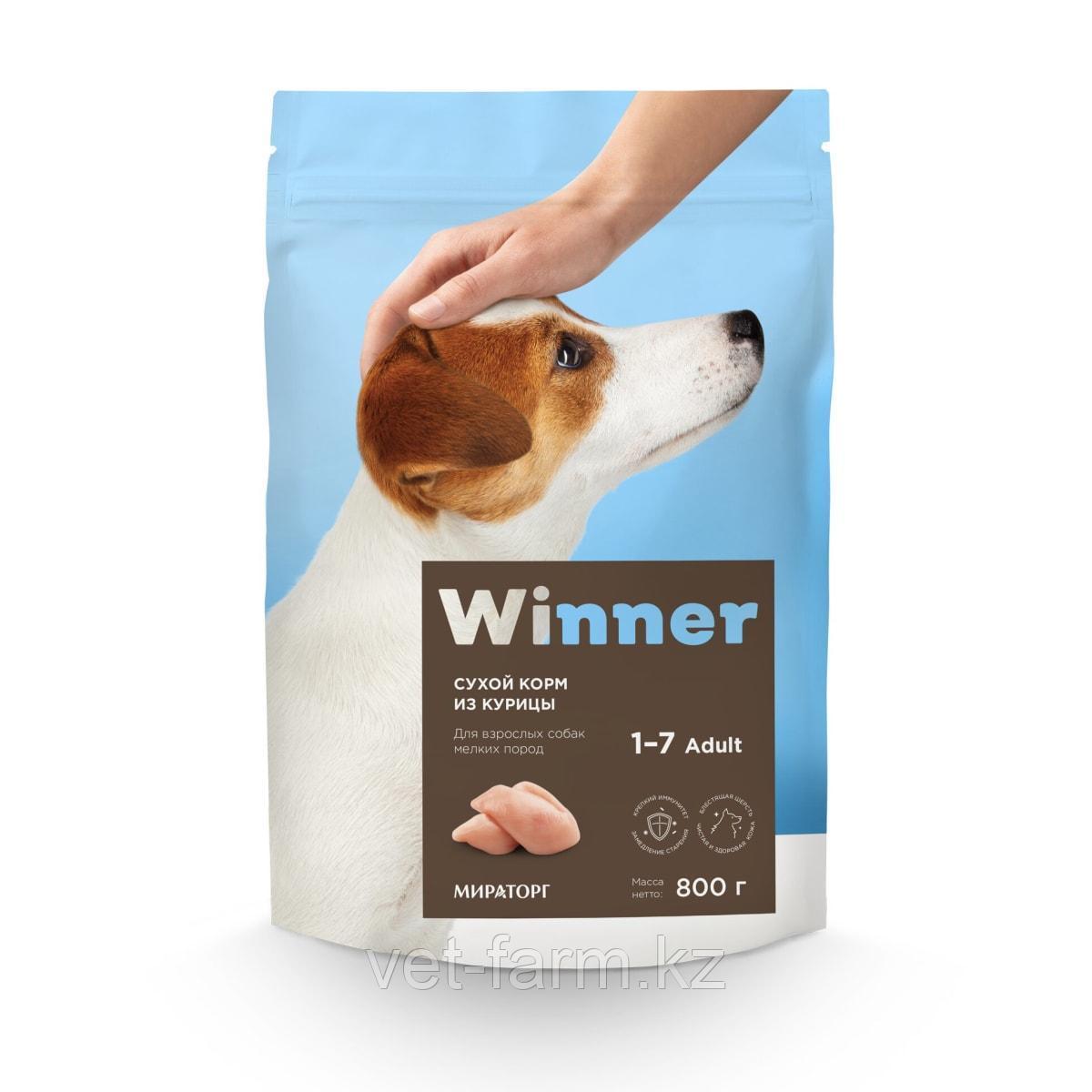 Сухой корм для собак Winner для взрослых собак мелких пород из курицы 3 кг