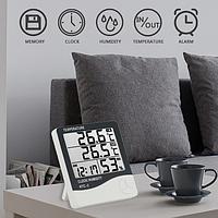 HTC-2 термометр внутр/наружн гигрометр часы будильник календарь