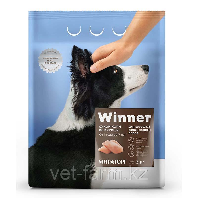 Сухой корм для собак Winner для взрослых собак средних пород из курицы 3 кг