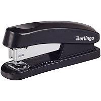 """Степлер №24/6, 26/6 Berlingo """"Universal"""" до 30л., пластиковый корпус, черный H3100"""