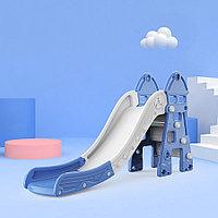 Детская горка Замок Синий/серый (Pituso, Испания-Россия)