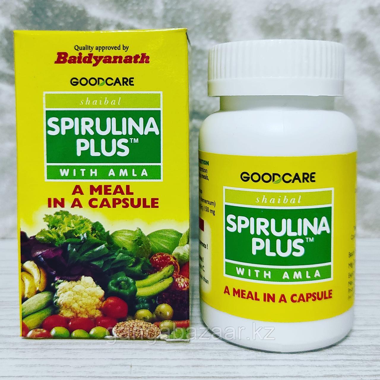 Спирулина + Амла (Spirulina Plus + Amla) - заряд энергии, замедление процессов старения, укрепление иммунитета