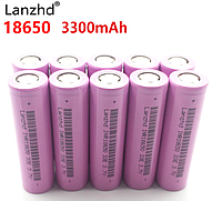 Аккумуляторные литий-ионные 18650 батарейки 3300 мАч