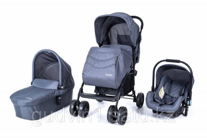 Коляска детская Tomix City 3 в 1, серый 01-31324
