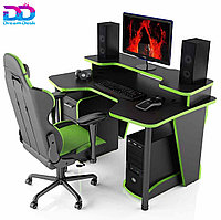 Стол DreamDesk ARENA-BLACK/GREEN