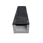 Лоток водоотводный бетонный с решеткой щелевой чугунный ВЧ кл.D в комплекте 1000х215х220 мм, фото 3