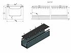 Лоток водоотводный бетонный с решеткой щелевой чугунный ВЧ кл.D в комплекте 1000х345х350 мм, фото 2