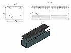 Лоток водоотводный бетонный с решеткой щелевой чугунный ВЧ кл.D в комплекте 1000х255х260 мм, фото 2