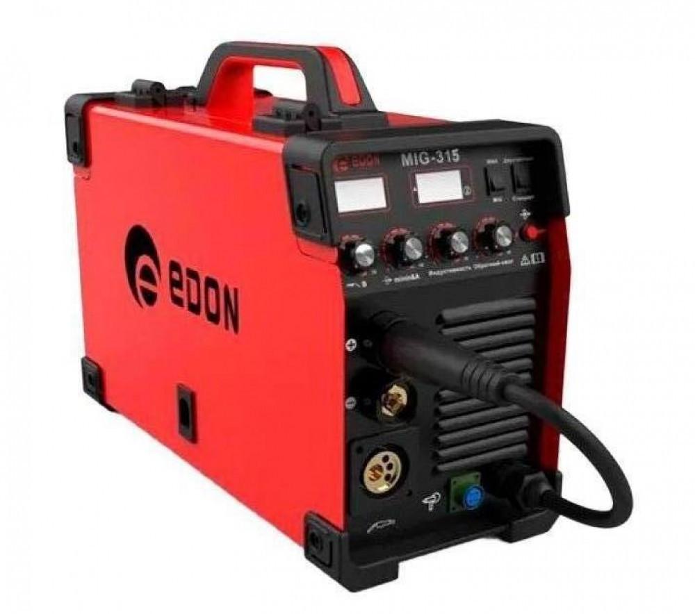 Сварочный инверторный полуавтомат Edon MIG-315 NEW электронное табло