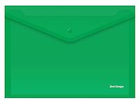 Папка-конверт на кнопке Berlingo, А4, 0,18 мм, зеленая