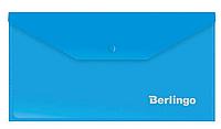 Папка-конверт на кнопке Berlingo, C6, 180 мкм, синяя