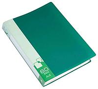 Папка с файлами БЮРОКРАТ на 60 вкладышей, зеленая