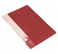Папка с файлами БЮРОКРАТ на 10 вкладышей, красная