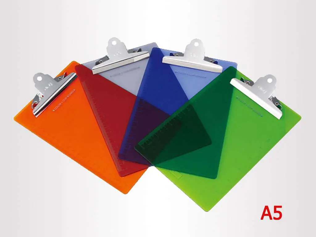 Папка-планшет DELI А5, пластиковая, ассорти